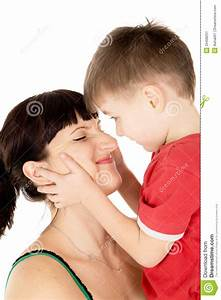 Happy Child Kiss His Mother Stock Image - Image: 29438251