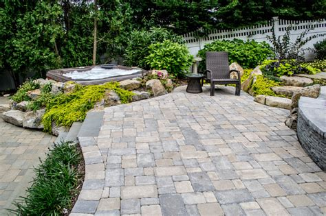 Bullfrog Spas built into boulders and landscaping   Traditional   Patio   New York   by Best Hot