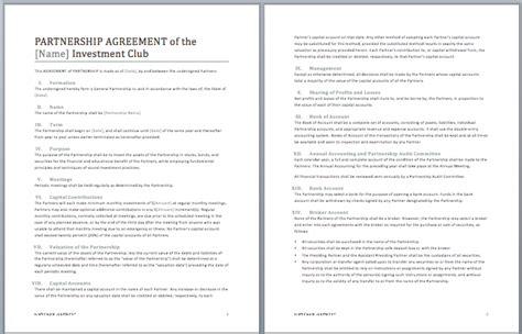 Partnership Contract Template