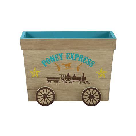 coffre 224 jouets enfant en bois l 60 cm cowboy maisons du monde