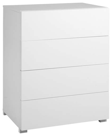 gloss commode 224 4 tiroirs finition laqu 233 e blanc brillant contemporary chests of drawers by