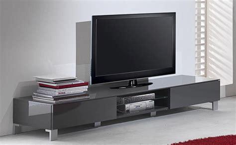 meuble tv bas laque gris