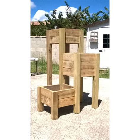 jardiniere en bois sur pied pas cher achat vente priceminister