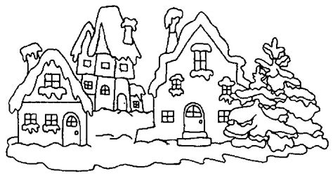 dessin sous la neige