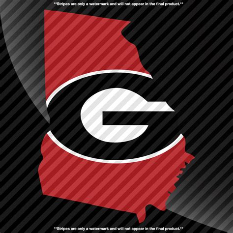 Georgia Bulldogs State Pride 3 Color Decal  Decals By Delano