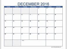 Monthly Calendar For December Calendar Template 2018