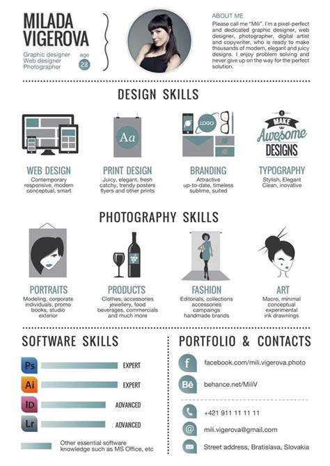 30+ Examples Of Creative Graphic Design Resumes