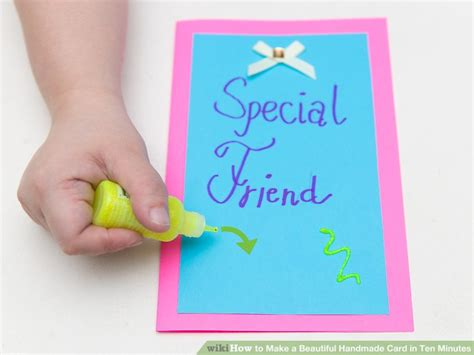 How To Make A Beautiful Handmade Card In Ten Minutes