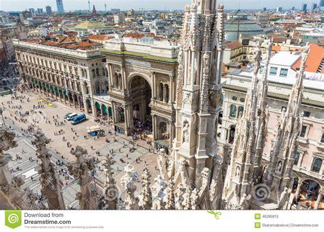 galerie de vittorio emanuele ii et place duomo 224 milan photo stock image 46285810