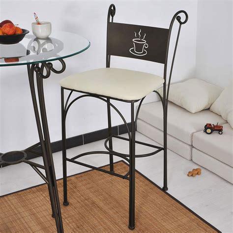 chaise haute en fer forg 233 hauteur 110 cm set de 2 pi 232 ces cappuccino
