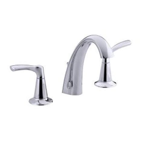 kohler mistos 8 in widespread 2 handle bathroom faucet in polished chrome k r37026 4d cp the