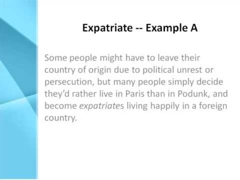 expatriate definition what does expatriate