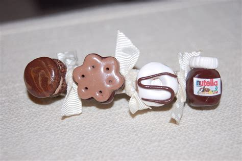 barette macaron bn donuts pot de nutella cr 233 ation de gourmandise en p 226 te fimo