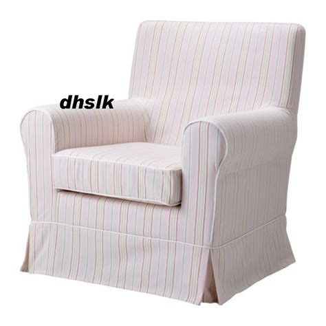 ikea ektorp jennylund armchair slipcover cover kareby pink stripes