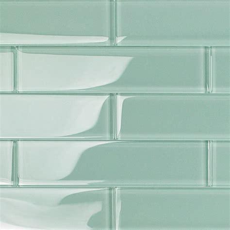 Shop For Loft Adriatic Mist 2x8 Polished Glass Tiles At