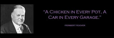 a chicken in every pot a car in every garage