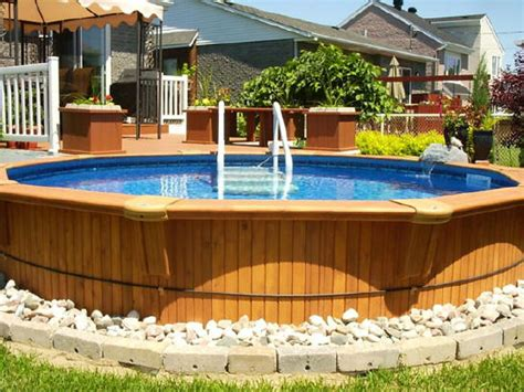 landscaping ideas for backyard with above ground pool landscaping gardening ideas