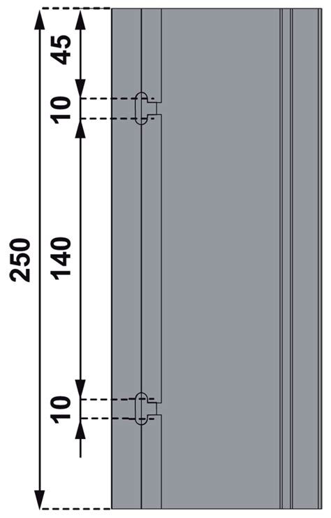 quincaillerie poignee de porte battante type aileron hauteur 250 mm la croisee ds