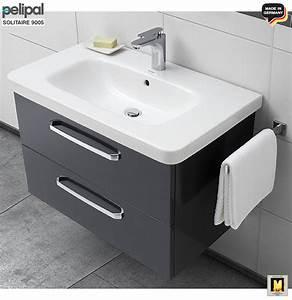 Waschtisch Mit Spiegelschrank 80 Cm : pelipal solitaire 9005 waschtisch set 80 cm mit duravit keramik waschtisch unterschrank mit 2 ~ Markanthonyermac.com Haus und Dekorationen