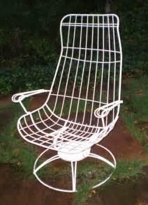 vintage homecrest siesta lounge eames style iron chair iron