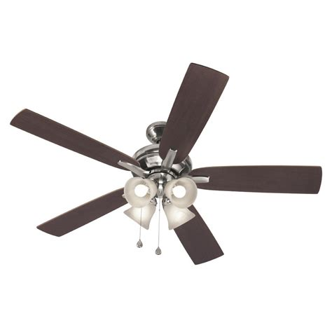 harbor 52 in harbor port severn brushed nickel ceiling fan lowe s canada