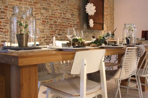 tablescape rustic modern contemporary dining room