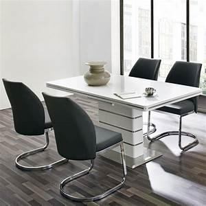 Tisch Weiß Ausziehbar : tischgruppe alando pablo tisch in wei hochglanz ausziehbar stuhl in schwarz ebay ~ Markanthonyermac.com Haus und Dekorationen