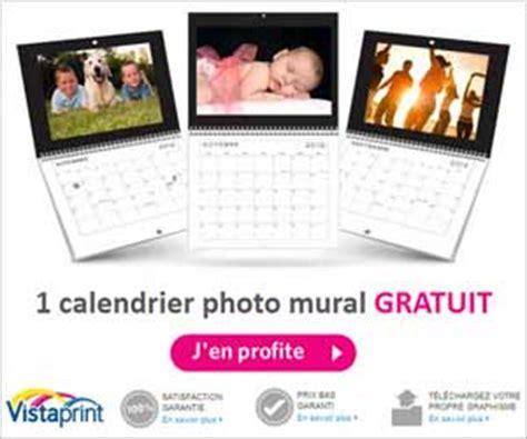 calendrier photo mural gratuit chez vistaprint hors frais de port et de stockage offre