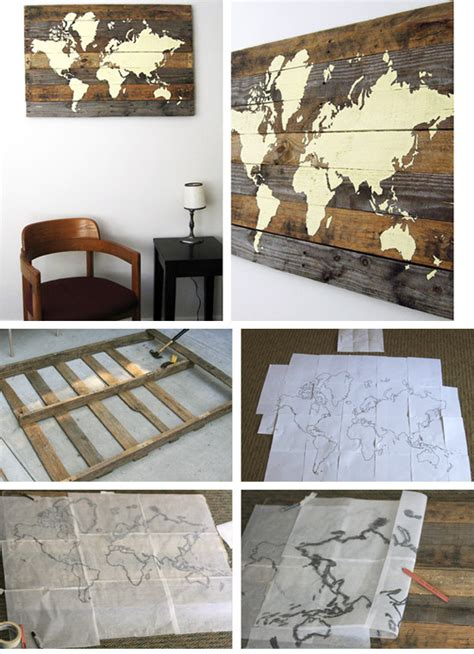 pallet board world map click pic for 36 diy wall ideas for living room diy wall