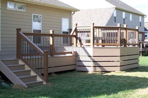 horizontal deck skirting tofino cabin pools deck skirting and decks