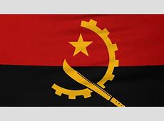 Angolan flag Footage Stock Clips
