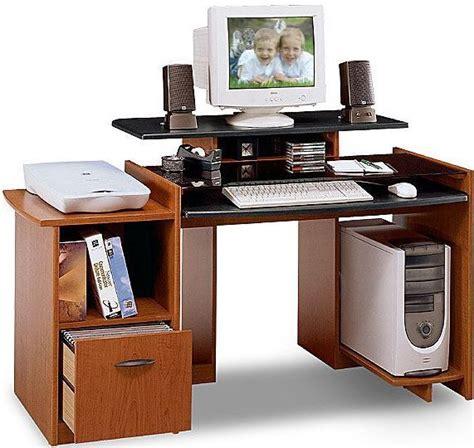 computer desk with monitor shelf whitevan