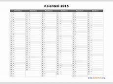Kalenteri 2019 2018 Calendar printable for Free Download