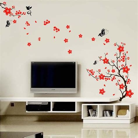 blossom flowers tree wall stickers mural decal self adhesive wallpaper decor ebay