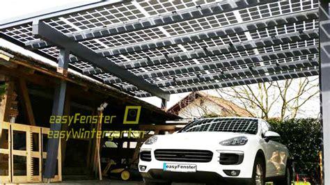 Carport Mit Solarmodulen Bauen Glasglasmodule
