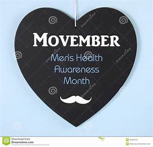 Movember Fundraising For Mens Health Awareness Message On ...
