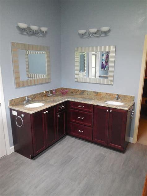 shaped vanity contemporary bathroom vanities and sink