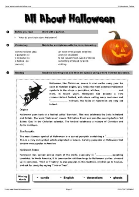 Esl Halloween Worksheets For English Teachers Ready To Print