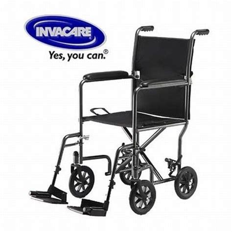 new invacare lightweight folding transport wheelchair ebay