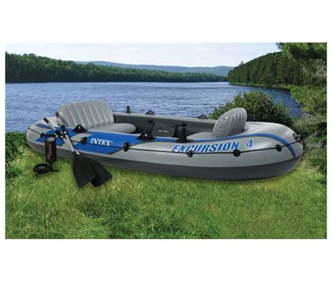 Intex Inflatable Boat Review by Intex Excursion 4 Inflatable Boat Set 68324ep