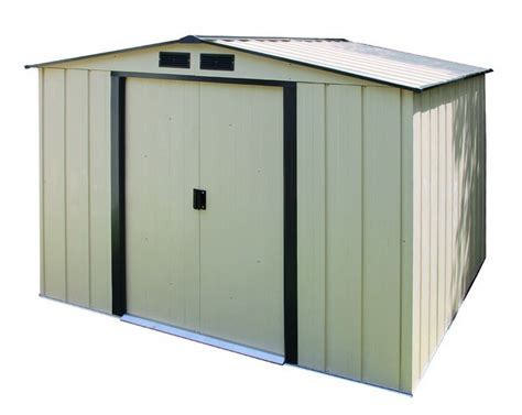 duramax 10x10 eco metal storage shed kit 61235