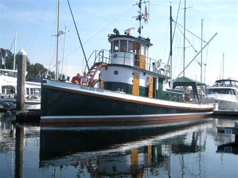 Old Wooden Tug Boats For Sale 1897 tacoma tugboat classic tug power boat for sale www