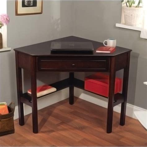 simple living espresso corner writing desk contemporary