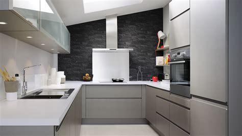 cuisine 233 quip 233 e laque style design couleurs sourdes cuisinella