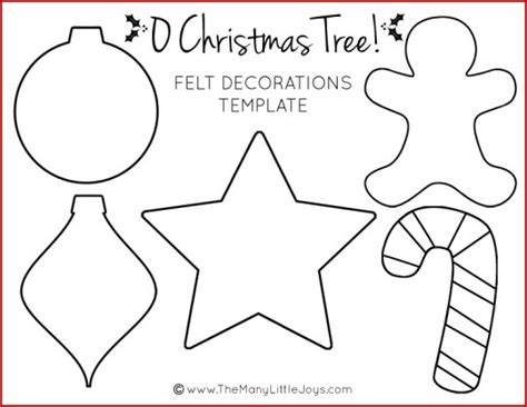 Felt Christmas Tree For Kids (with Printable Templates