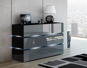Kommode Grau Hochglanz : kaufexpert kommode shine sideboard 120 cm grau hochglanz schwarz led beleuchtung modern design ~ Markanthonyermac.com Haus und Dekorationen