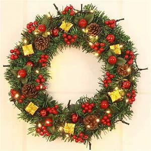 Weihnachtskranz Für Tür : gro handel weihnachtskranz girlande kugeln geschenkboxen dekorationen f r haus t r wand ornament ~ Markanthonyermac.com Haus und Dekorationen