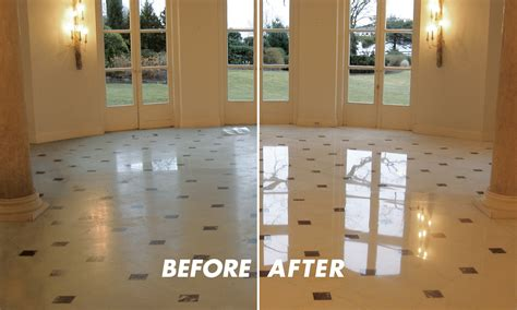 marble travertine floor polishing service in lake forest