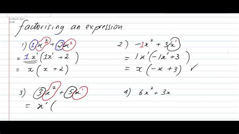 Factorising Simple Expression How To Factorise An Expression Youtube