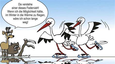 Karikatur Hollenstedter Störche mögen es kalt Northeim